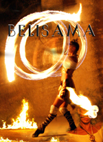 Affiche du spectacle de feu Belisama de Gwam the artists
